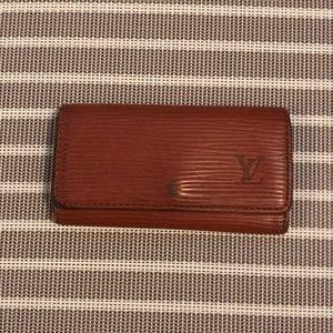 Louis Vuitton Orange/Brown Epi Key Holder